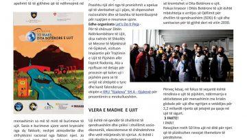 """Bashkangjitur  gjeni dy faqe nga numri më i ri i  revistës Gjakovapress, ku pasqyrohet puna e KRU """"Gjakova"""" si dhe linkun e revistës online"""